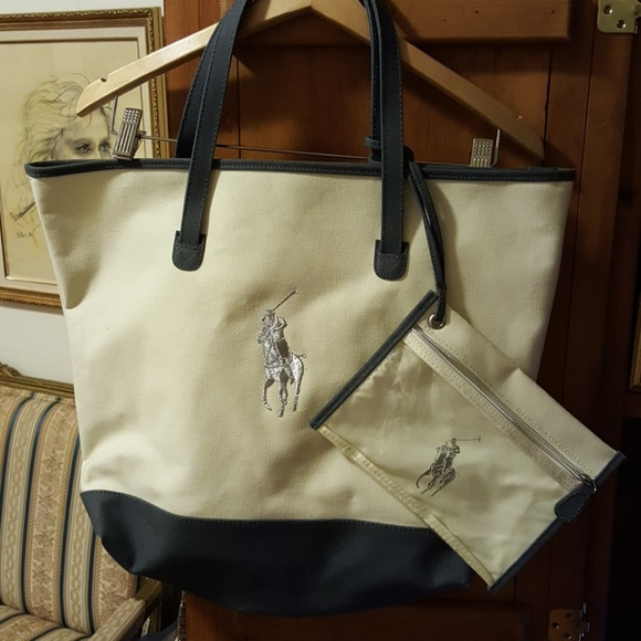 Polo by Ralph Lauren Bags   Ralph Lauren Polo Canvas Duck Tote Bag ... e8aa2c9705